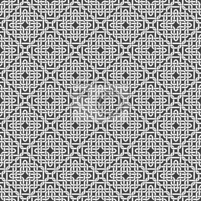 Bild Nahtlose Muster aus geflochtenem Gewinde mit Swatch für Füllung. Stilvolle Ornament-Textur. Mode geometrischen Hintergrund für Web-oder Druck-Design.