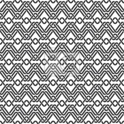 Bild Nahtlose Muster aus geflochtenen Streifen mit Swatch für Füllung. Zusammenfassung keltische Ornament-Textur. Mode geometrischen Hintergrund für Web-oder Druck-Design.