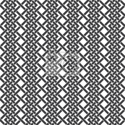 Bild Nahtlose Muster der schneiden Flechtstreifen. Zusammenfassung Celtic Ornament Textur. Mode geometrischen Hintergrund für Web-oder Druck-Design. Farbfelder sind beigefügt.