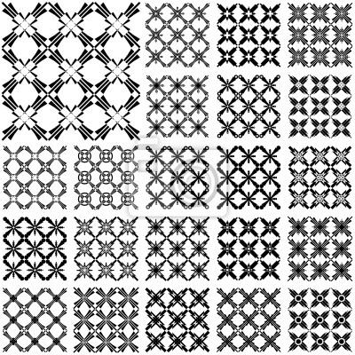 Nahtlose Muster. Designs mit Kreuz-Elemente gesetzt.