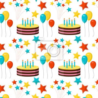 Nahtlose Muster Hintergrund Geburtstagsparty