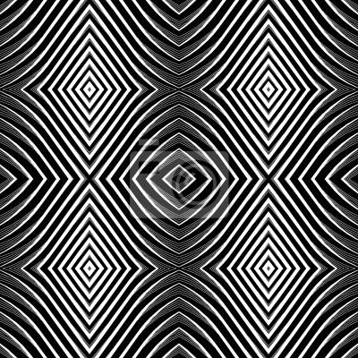 Nahtlose Muster im Op-Art-Design.