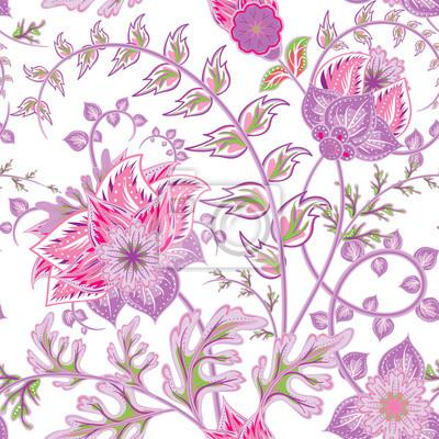 bild nahtlose muster mit blumen schne helle blumen romantische hand zeichnen vektor nahtlose muster - Schone Muster Zum Zeichnen