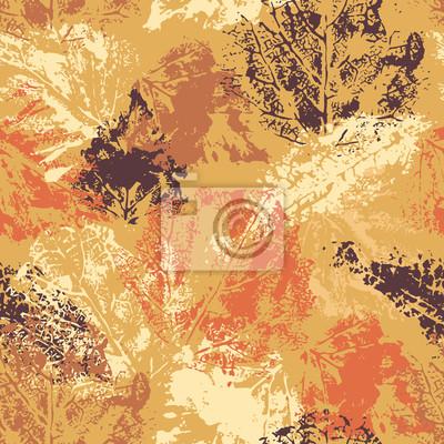 Nahtlose Muster mit Herbst Blätter