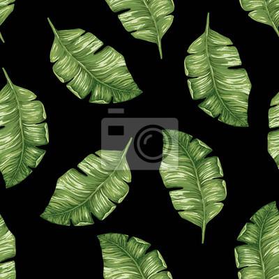 Bild Nahtlose Muster mit Palmblättern.