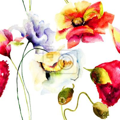 Nahtlose Muster mit schönen Blumen
