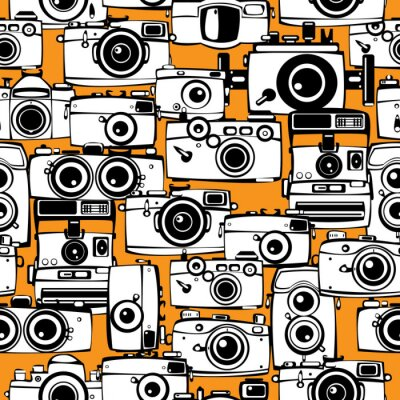 Bild nahtlose Muster vintage film Fotokameras