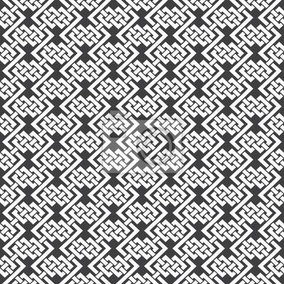 Bild Nahtlose Muster von geflochtenen Streifen mit Swatch zum Füllen. Zusammenfassung keltischen Ornament Textur. Mode geometrischen Hintergrund für Web-oder Druck-Design.