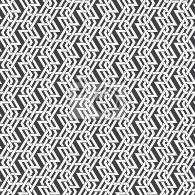 Bild Nahtlose Muster von schneidenden geflochtenen Streifen. Zusammenfassung keltischen Ornament Textur. Mode geometrischen Hintergrund für Web-oder Druck-Design. Farbfelder sind befestigt.