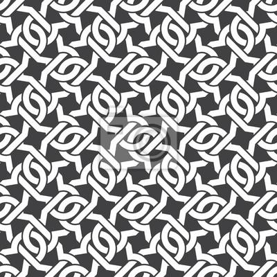 Nahtlose Muster von sich kreuzenden geschweiften Klammern mit Farbfeld für die Füllung. Celtic Kettenhemd. Fashion geometrischen Hintergrund für Web oder Print-Design.