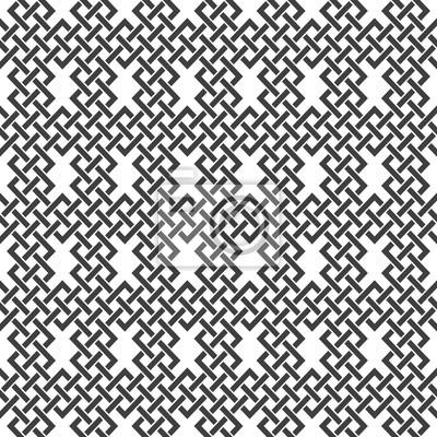 Bild Nahtlose Muster von sich überschneidenden Linien. Zusammenfassung Celtic Ornament Textur. Mode geometrischen Hintergrund für Web-oder Druck-Design. Farbfelder sind beigefügt.