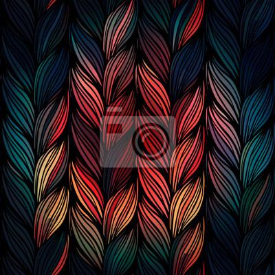 Bild Nahtlose Muster von Zöpfen.
