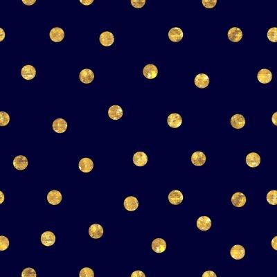 Bild Nahtlose Polkapunkt goldenem Muster.