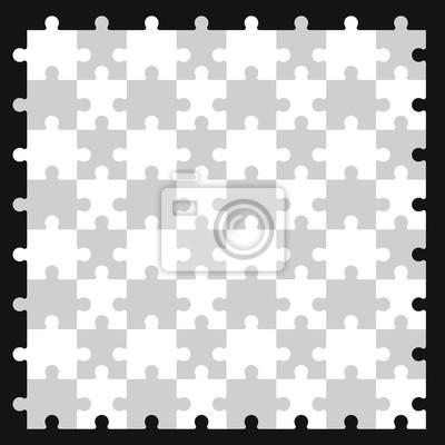 bild nahtlose puzzle muster vektor - Puzzle Muster