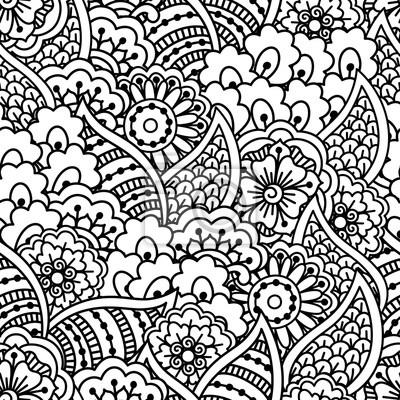 Vektor Nahtlose Muster Schwarz Weiss Geometrischen