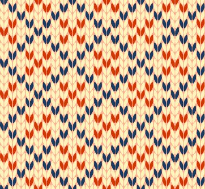 Bild Nahtlose Strick-Vektor-Muster