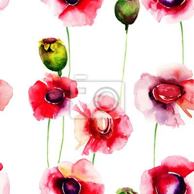 Nahtlose Tapete mit Sommerblumen