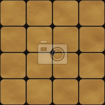 Nahtlose Textur Von Gelben Quadratischen Fliesen Mit Runden Ecken