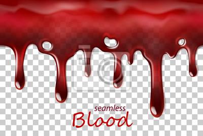 Bild Nahtlose tropfende Blut wiederholbar isoliert auf transparent