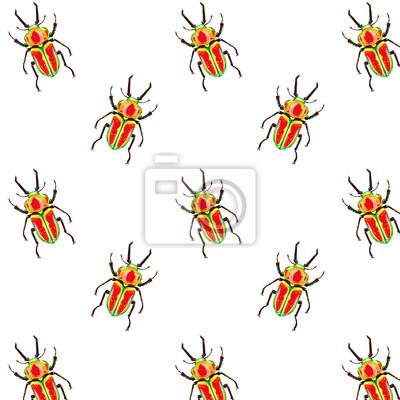 Nahtlose Vektor-Muster mit Bugs