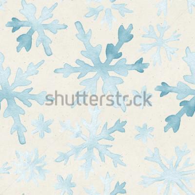 Bild Nahtloses Aquarellmuster auf Papierbeschaffenheit. Weihnachten Hintergrund