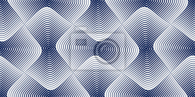 Nahtloses geometrisches Muster. Geometrischer einfacher Modedruck. Vektor, der Fliesenbeschaffenheit wiederholt. Abgerundete quadratische Formen trendy Wiederholungsmotiv. Einfarbig, schwarz und weiß.