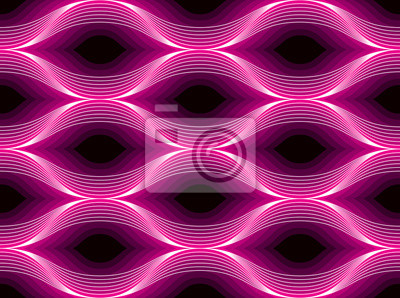 Nahtloses geometrisches Muster. Geometrischer einfacher Modedruck. Vektor, der Fliesenbeschaffenheit wiederholt. Wellenförmige Kurve formt modisches Wiederholungsmotiv. Verwendbar für Stoff, Tapete, V