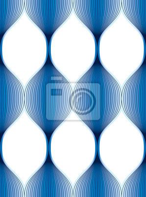 Nahtloses geometrisches Muster.  Geometrischer einfacher Modestoffdruck.  Vektor, der Fliesentextur wiederholt.  Wellenförmige Kurvenformen trendiges Wiederholungsmotiv.  Verwendbar für Stoff