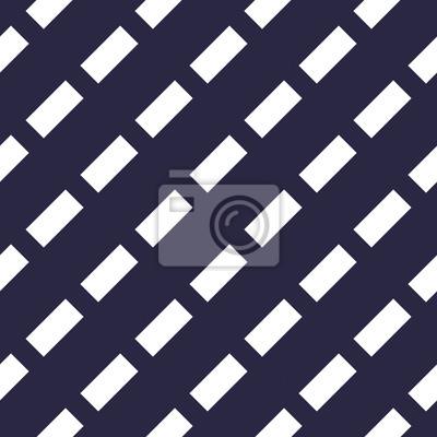 Nahtloses Muster des minimalen gestrichelten Linienvektors, abstrakter Hintergrund.  Einfaches geometrisches Design.  Diagonale parallele Streifen.  Einfarbig, schwarz und weiß.
