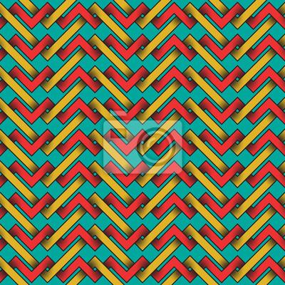 Nahtloses Muster von bunten verflochtenen Streifen.