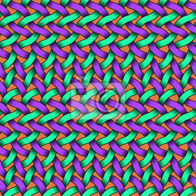 Nahtloses Muster von bunten verflochtenen Streifen. Abstrakter Hintergrund mit editable Farben.