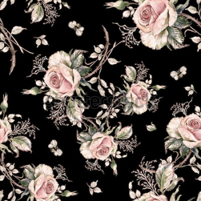 Bild Nahtloses rosafarbenes Muster und Hummel bee-7