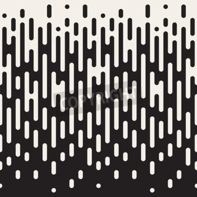 Bild Nahtloses unregelmäßiges gerundetes Schwarzweiss-Linien Halbton-Übergangs-Zusammenfassungs-Hintergrund-Muster