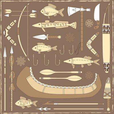Bild Native American Fischer Design-Elemente