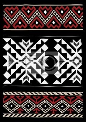 Native Americans Gewebe-Entwurf