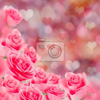 Bild Natürliche rosa Rosen Hintergrund