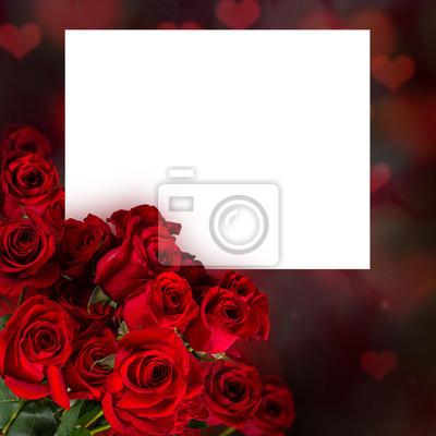 Bild Natürliche rote Rosen Hintergrund