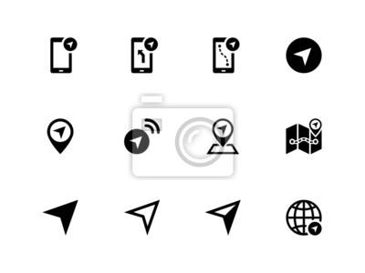 Navigator-Symbole auf weißem Hintergrund.