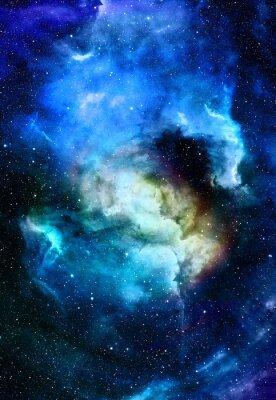 Bild Nebula, kosmischen Raum und Sterne, blau kosmischen abstrakten Hintergrund. Elemente dieses Bildes von der NASA eingerichtet.