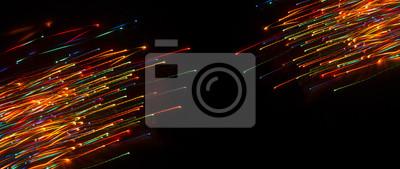 Bild Neon sparks on a dark background. Abstract dark background.