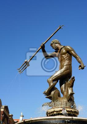 Neptun Skulptur in Gdansk - Brunnen