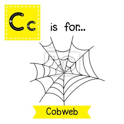 Nette Kinder Abc Alphabet C Brief Verfolgung Flashcard Cobweb