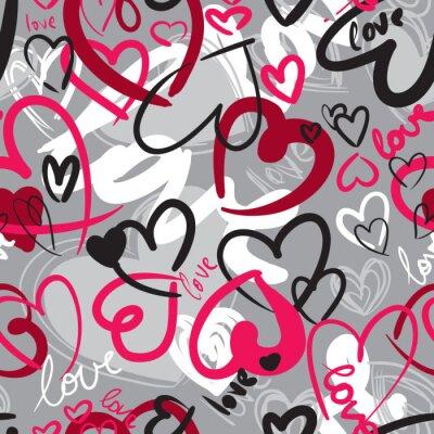 Bild Nette Valentinstag nahtlose Muster mit Herzen