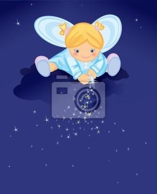 Bild Netter Engel mit Sternen