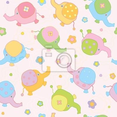 Bild Netter Hintergrund, kleine Baby-Elefanten