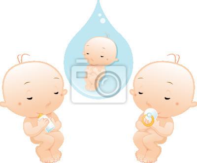 Neugeborenes Schlafen mit Schnuller und Flasche