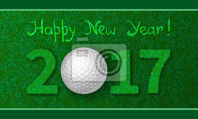 Neujahr 2017 Grußkarte