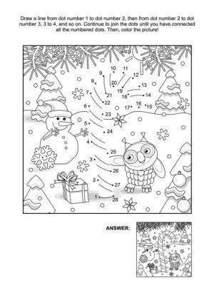 Neujahr oder weihnachten themed verbinden die punkte bild rätsel ...