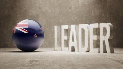 Neuseeland. Leader-Konzept.