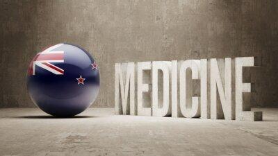 Neuseeland. Medizin-Konzept.